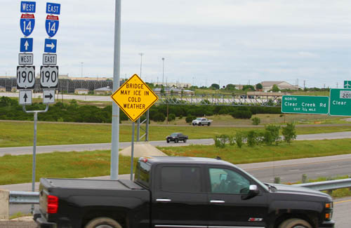 Interstate 14 signs first placed in Texas